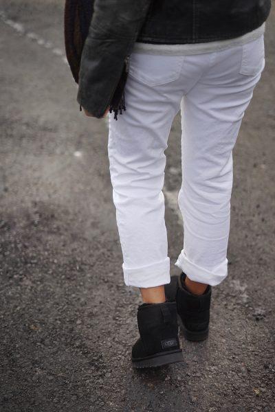 ugg black short lack of color outfit