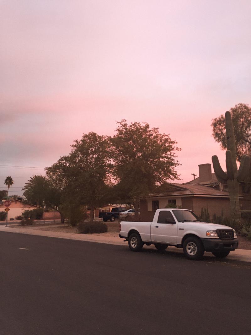 arizona pink sunset