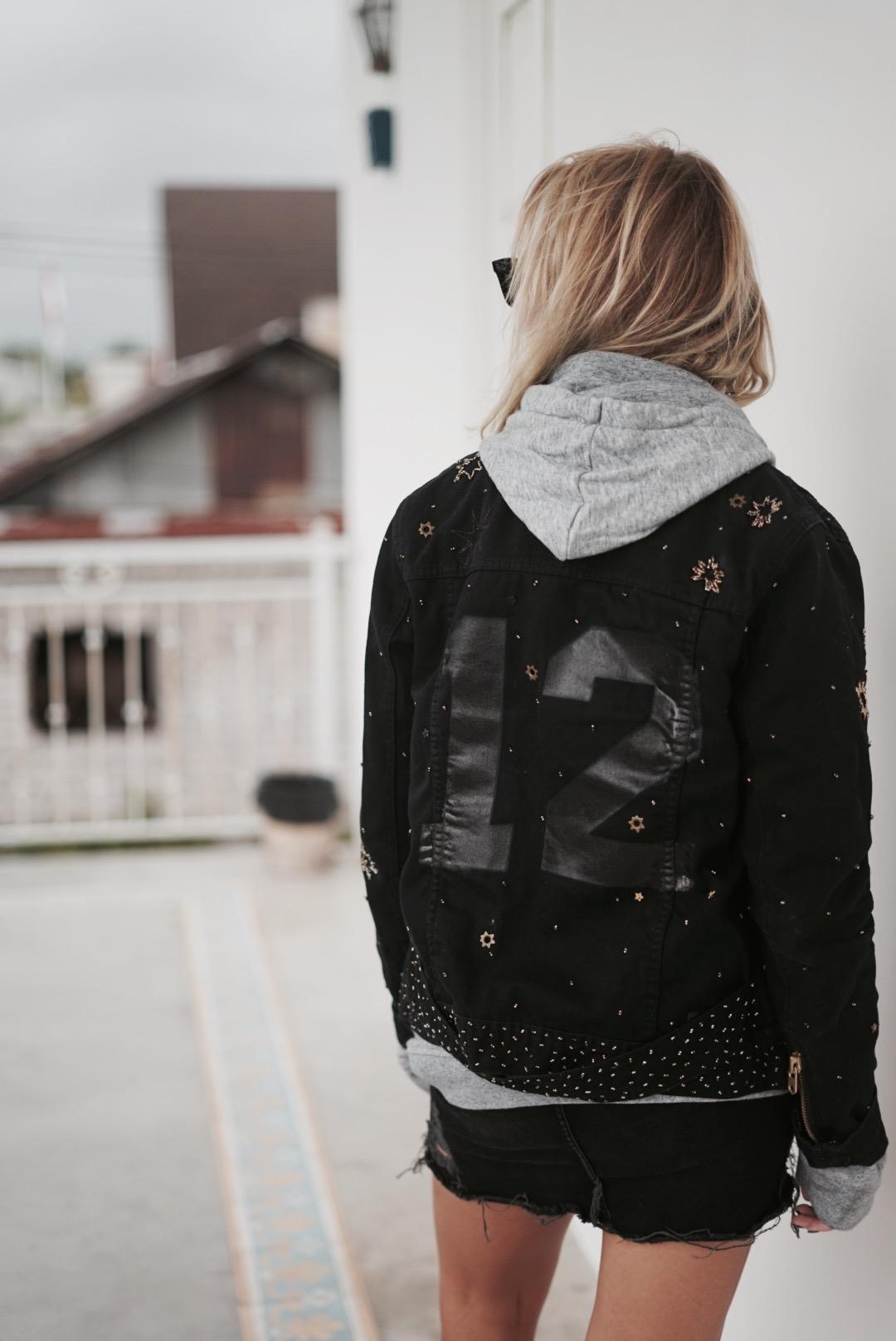 jacket grey sweater