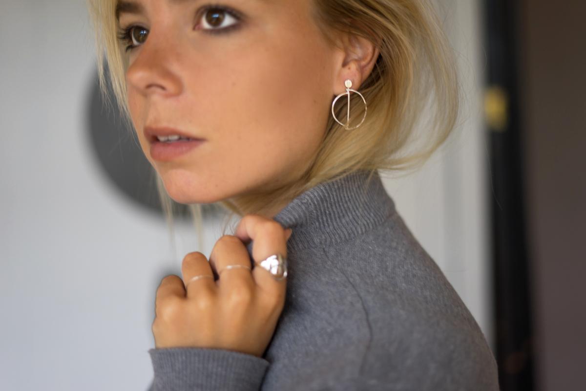 arty earrings
